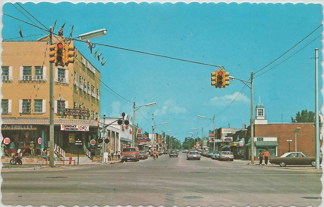 Ne East Tawas Mi 1960s Us 23 Amp Newman St Downtown Businesses The Trolley Amp Holland House