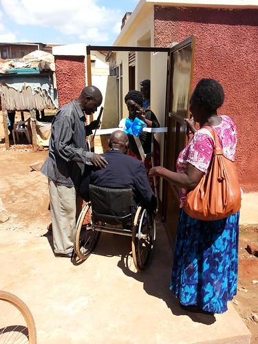 GDPU Board Member Omona Richard is the first wheelchair user to access the new facility