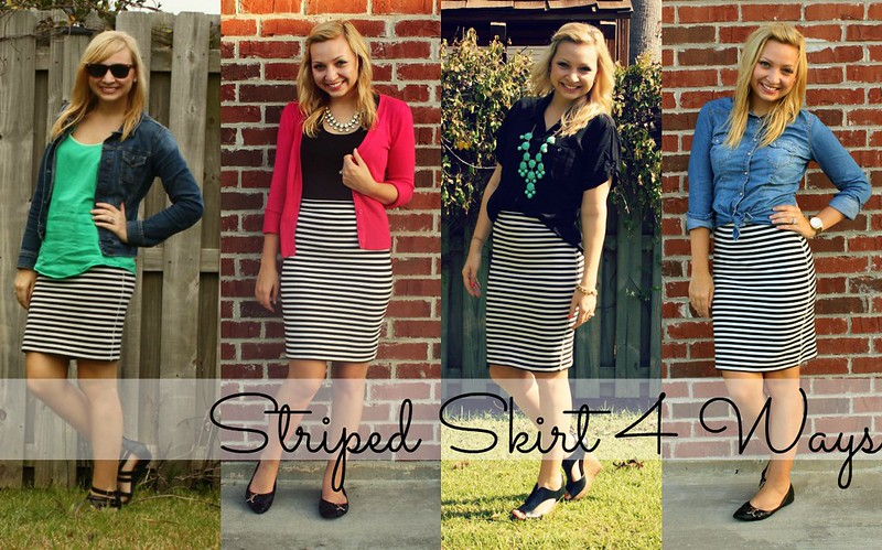 Striped Skirt 4 Ways