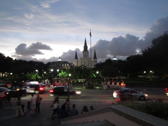 Sunset over Jackson Square