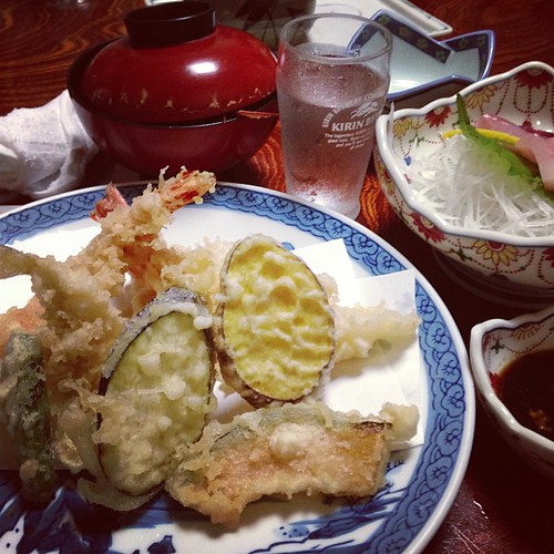 お刺身と天ぷら定食!