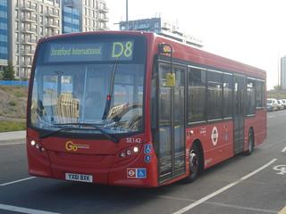 Docklands Buses SE142 on Route D8, Stratford International