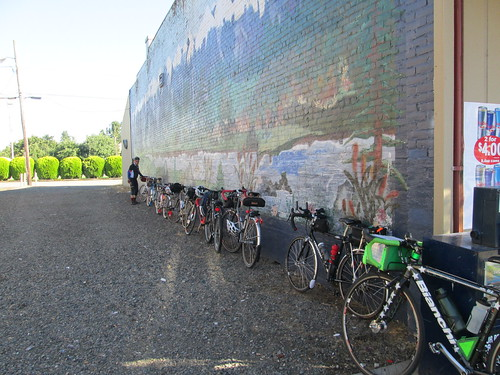Gervais mural and line of bikes