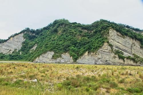 溪卓蘭層剖面是出露在烏溪河畔的裸露岩壁常吸引人的目光。(圖片來源:林務局)