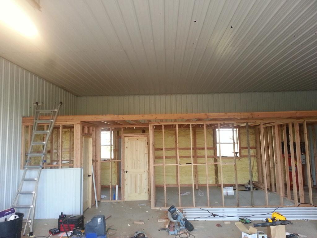Videos of how to sheetrock a pole barn joy studio design for Pole barn garage interior ideas