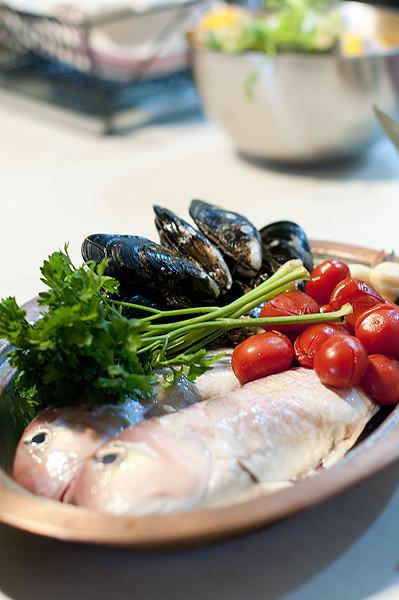 Acqua Pazza 拿坡里瘋狂水煮魚的食材
