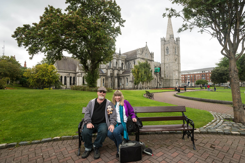 The tired travellers at St. Patrick's Cathedral
