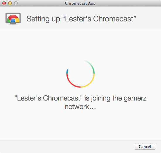 Google Chromecast - Setup Step 5