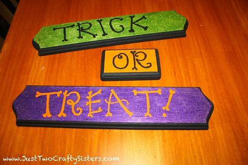 Working on my trick or treat halloween sign