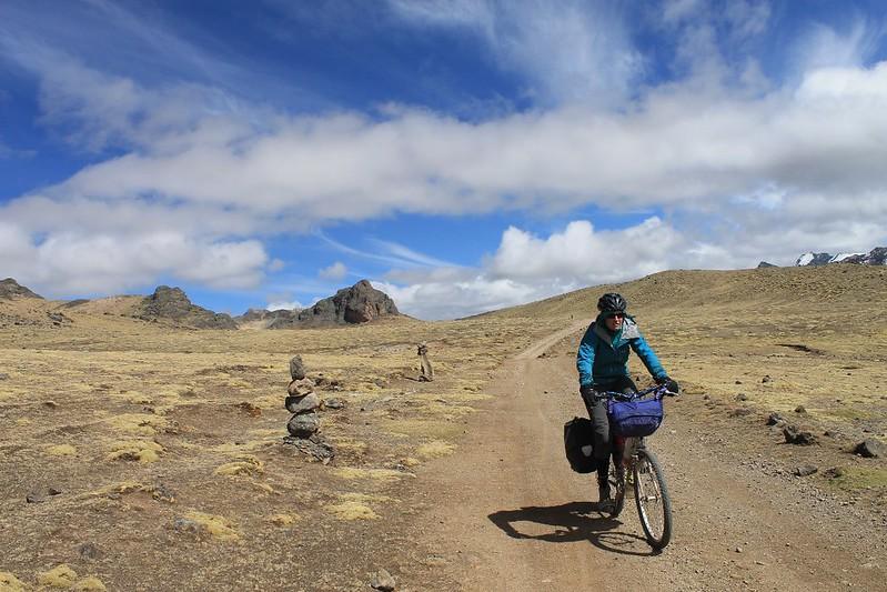 Descending from Punta Suija