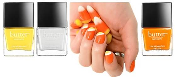 Haloween Looks by Butter London, Candy Cotton Nails