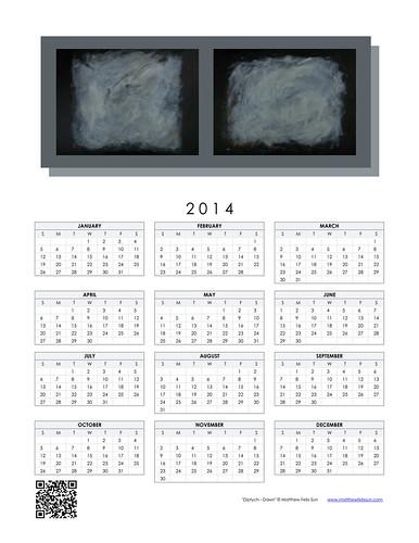 2014 Calendar - Diptych - Dawn