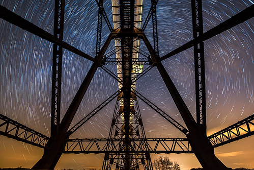 longexposure travel sky newyork motion metal night print stars landscape outdoors photography photo scenery gallery unitedstates image cloudy fineart scenic picture canvas astrophotography rotation startrails polaris northstar railroadtrestle newwindsor moodnaviaduct mikeorso
