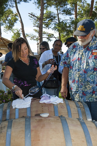 Denise Sutterfield poured from the barrel at Callaway, by Crispin Courtenay, via Flickr