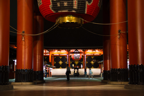 Sensō-ji at night