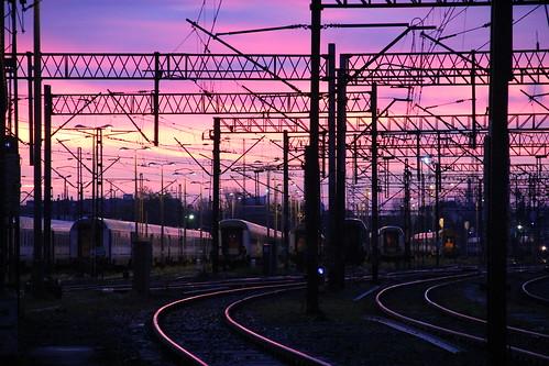 railroad morning cars station yard sunrise canon dawn tracks poland polska rail railway signals passenger coaches e30 catenary carriages wrocław pkp e59 lowersilesia dolnośląskie dolnyśląsk wrocławgłówny wagony canoneos550d canonefs18135mmf3556is d29271 d29132 d29276 d29273 d29285 d29763