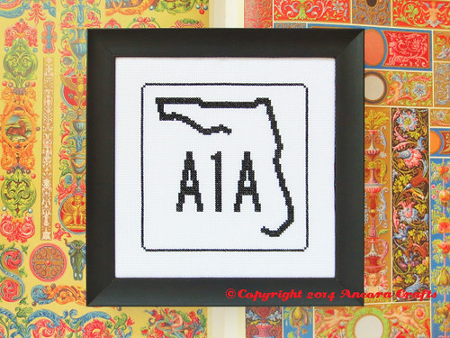 Florida State Highway Sign Cross Stitch