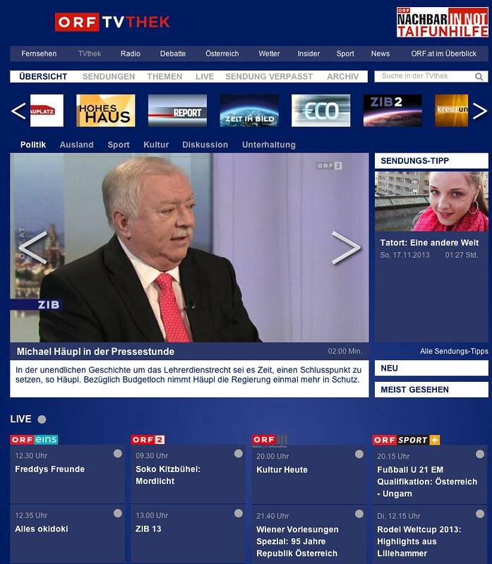 TV-Thek des ORF
