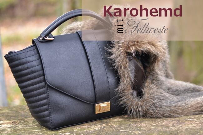 Outfit Karohemd und Fellweste (1)