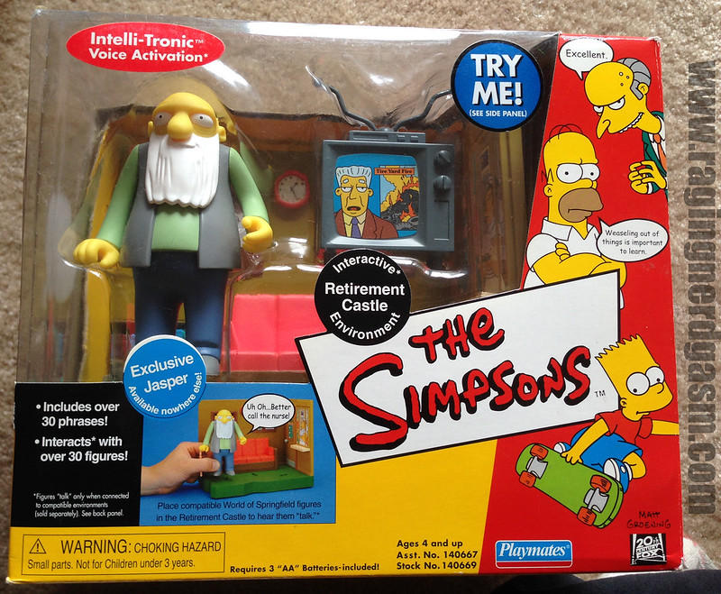 Playmates Play sets The Simpsons Tetirement Castle