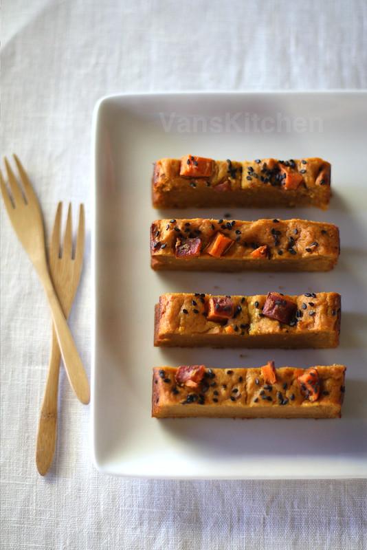 Sweet potato bars (Bánh khoai lang nướng)