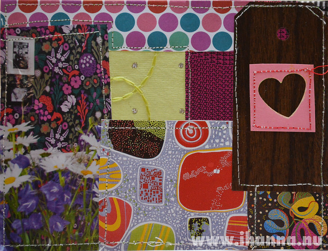 DIY Postcard Pop Art Collage - Friendship Heart