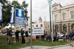 No City of Ballarat official flag raising outside the Ballarat Town Hall  | Eureka Day 2013 in Ballarat IMG_6489