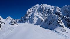 Podejście lodowcem Kalhitna do obozu 1.
