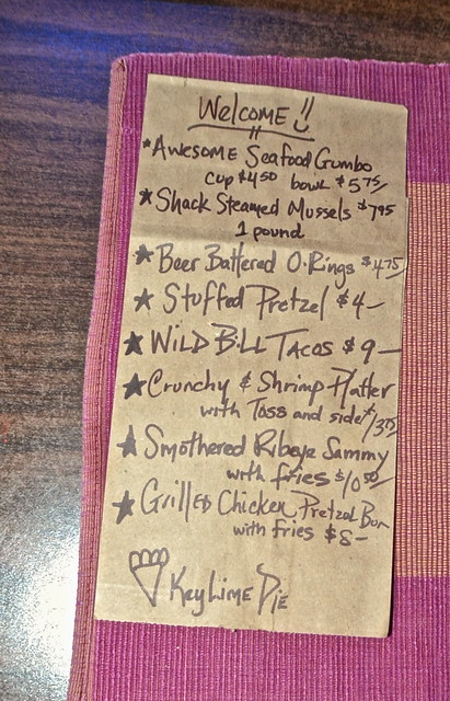beckyjacks food shack - specials