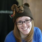 Sarah and the bear hat