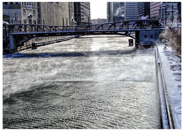 Icy River - Washington Bridge