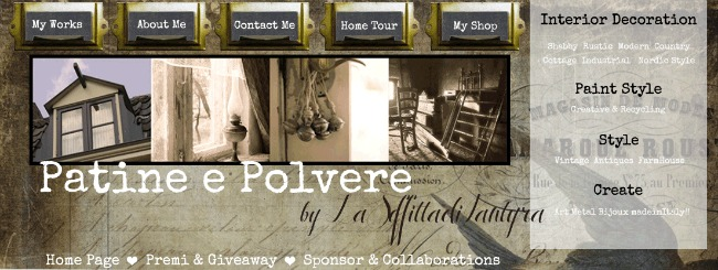 vintage shabby chic blog header designed by alex bonetto