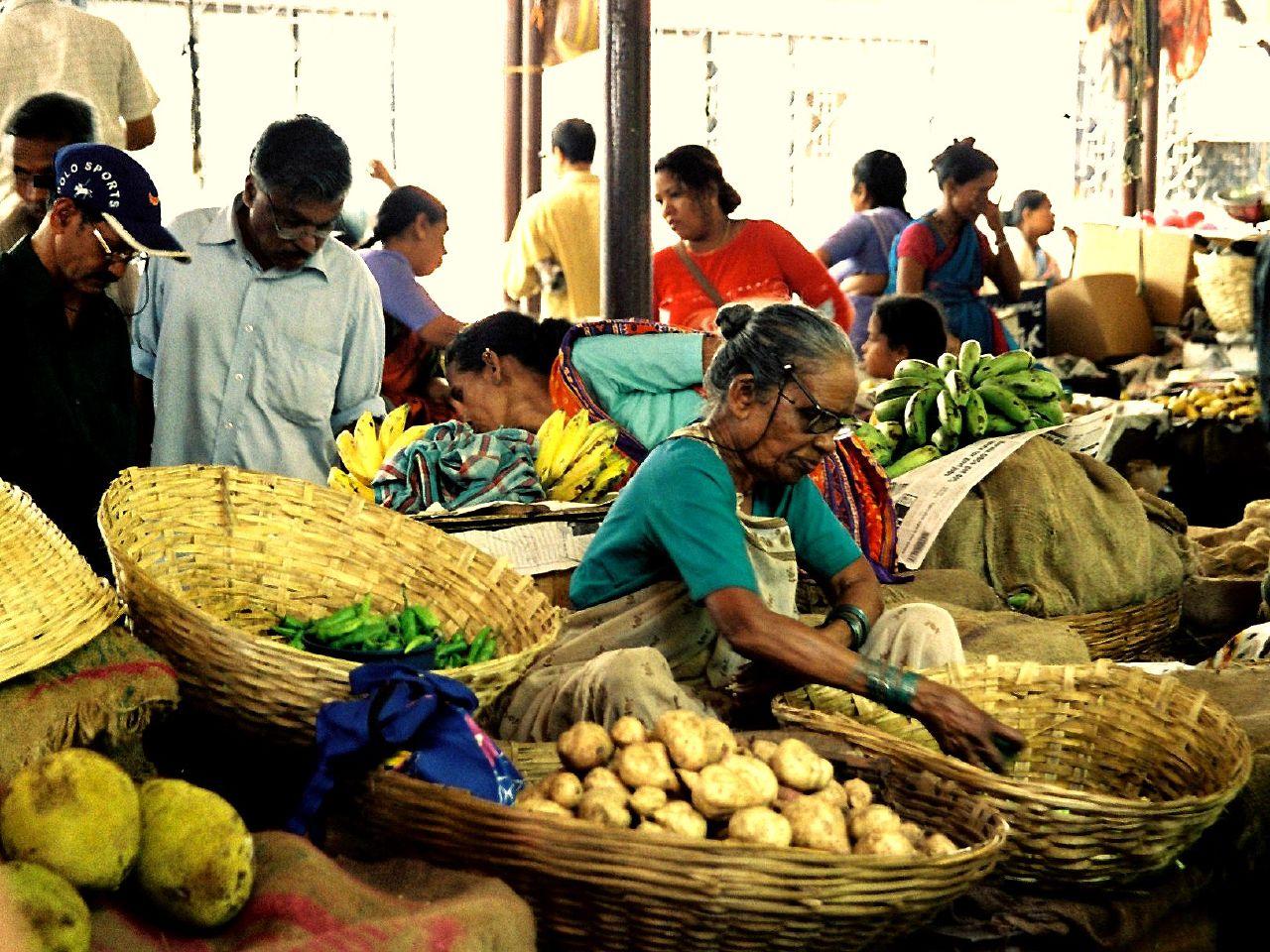 19. Mercado de Panaji, en Goa. Autor, Asebest