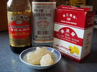 Soy Sauce, Rice Wine, Rock Sugar