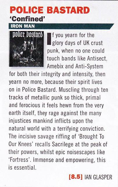 Police Bastard - Confined - Terrorizer review by Ian Glasper 2014