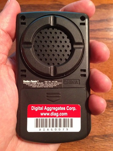 Radio Shack Pocket Tone Dialer (Back)
