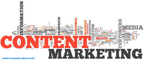 content marketing tag cloud