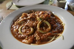 Seafood spaghetti @ Brasileirinho