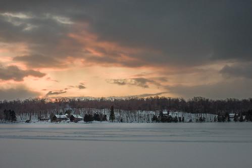 sunset snow ontario opinicon southfrontenac