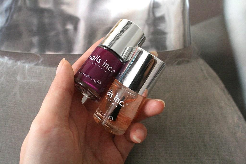 Nails Inc st martin's lane purple polish
