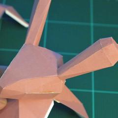 วิธีทำโมเดลกระดาษเรขาคณิตรูปกระต่าย (Rabbit Geometric Papercraft Model) 021