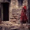 Woman in Red, Diu-Gujarat-India