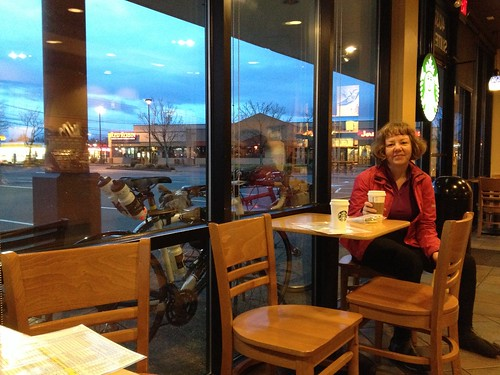 Maria. Starbucks at dawn.  3 miles