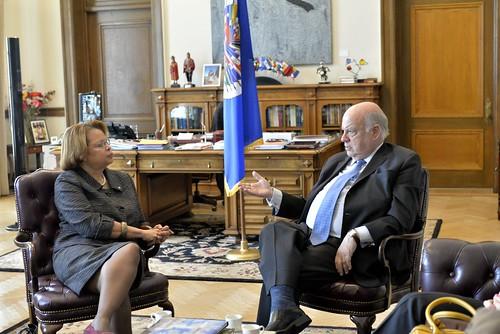Secretario General de la OEA se reunió con la Jefa de la MINUSTAH