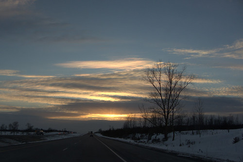 Sunset from the road