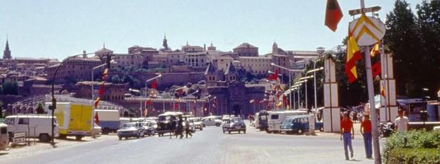 Feria en el Paseo de Merchán hacia 1970