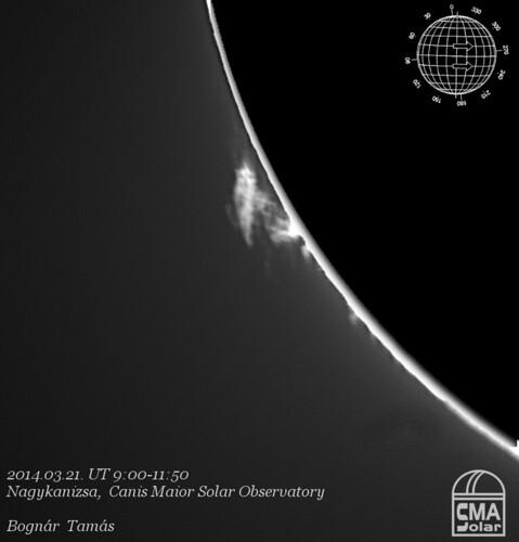 H-alha Sun - 2014.03.21. - Bognár Tamás
