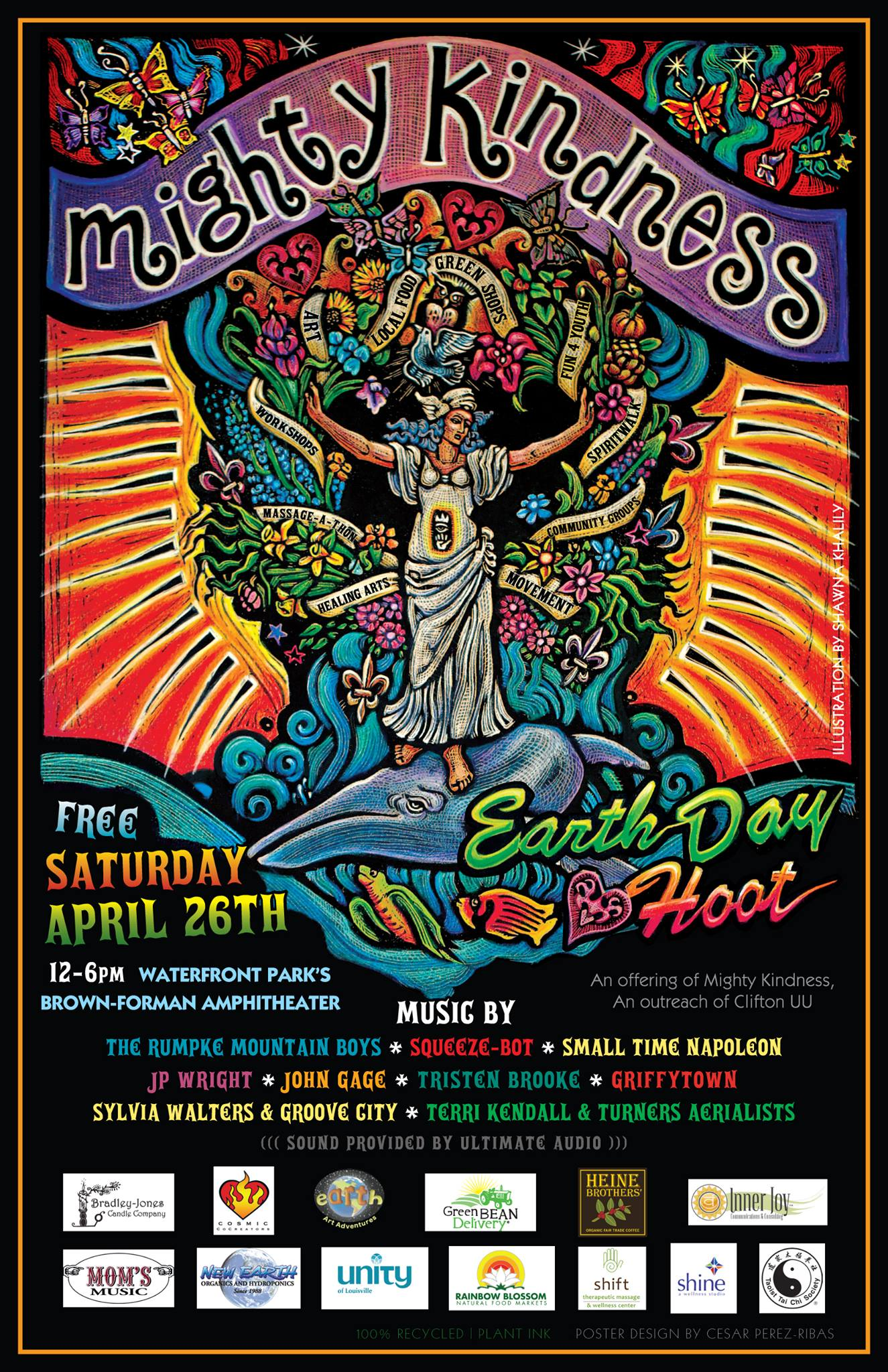 2014 MK Earth Day Hoot poster