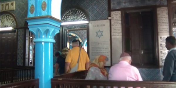 Tourists at the el Ghriba synagogue in Djerba. Image credit: Tunisia Live