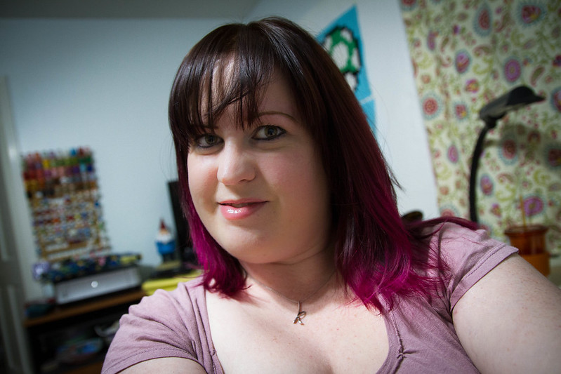 Black and Magenta Ombre Hair